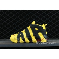 Nike Air More Uptempo Custom Bruce Lee Black Yellow Noir Amarillo Basketball Shoes New Style