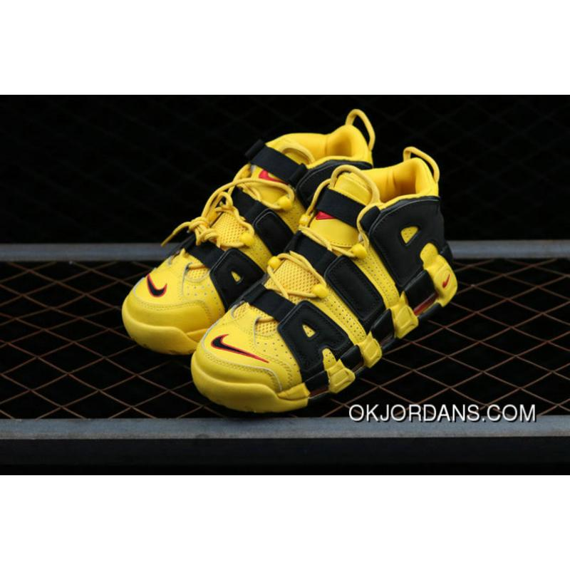 pretty nice 53a63 bf703 ... shop nike air more uptempo custom bruce lee black yellow noir amarillo  basketball shoes new style