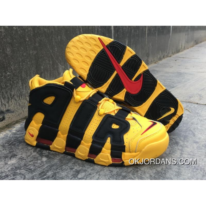 Nike Air More Uptempo Custom Bruce Lee Black Yellow New Year Deals ... 371266ebc