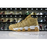 Nike Air More Uptempo Pippen Also Shoes Retro Big Air LOGO Pippen Men Shoes Pippen SKU AA4060-200 Wheat White New Year Deals