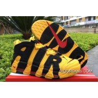 2018 Bruce Lee Nike Air More Uptempo Black/Yellow Discount