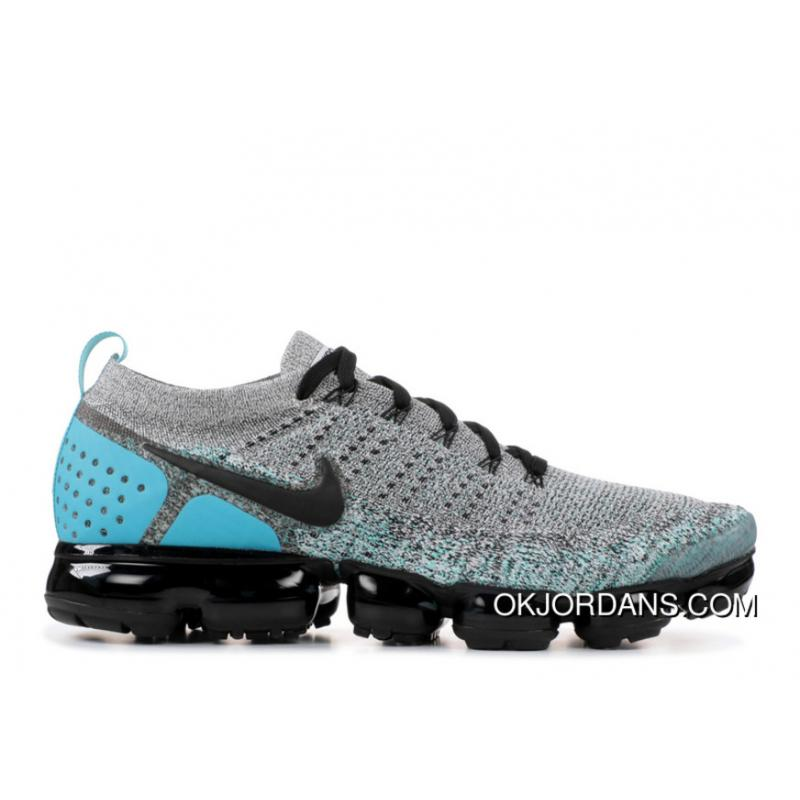 online store c459b 6bb14 NIKE AIR VAPORMAX FLYKNIT 2 SKU 942842 104 Black Grey Blue Free Shipping