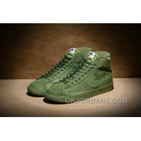 NIKE BLAZER High PRM VNTG 518171 Pig Leather Men Green Super Deals