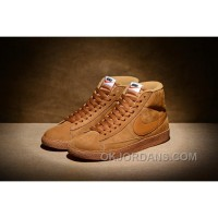 NIKE BLAZER High PRM VNTG 518171 Pig Leather Men Brown Free Shipping