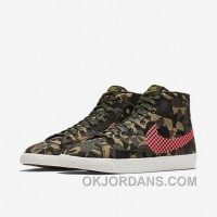 NIKE BLAZER MID JACQUARD 2017 Spring New 807382-201 Women Black Red Authentic G5BbMzz