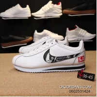 Nike Cortez Action Leather Surface Graffiti Women And Men Running Shoes New Release