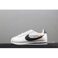 OFF-WHITE X Nike Classic Cortez Collaboration Casual Sport Shoes 807471-101 Top Deals