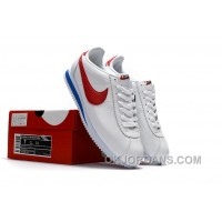 NIKE CORTEZ NYLON PRM White Blue Red Super Deals BiB4r