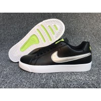 Nike COURT ROYALE LW LEATHER Women And Men Sport Shoes Black Siliver 36.5 Latest