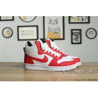 NIKE COURT BOROUGH MID SL White Red Top Deals