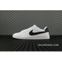 classic fit 535f9 b4a21 Nike Court Royale Sl 844802 100 White Black Blanc Noir Running Shoes Copuon