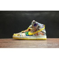 Nike Dunk High Scribble White/Varsity Maize New Style