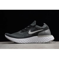 Nike Epic React Flyknit Black And Gery Printing Men's And Women's Size Running Shoes Online