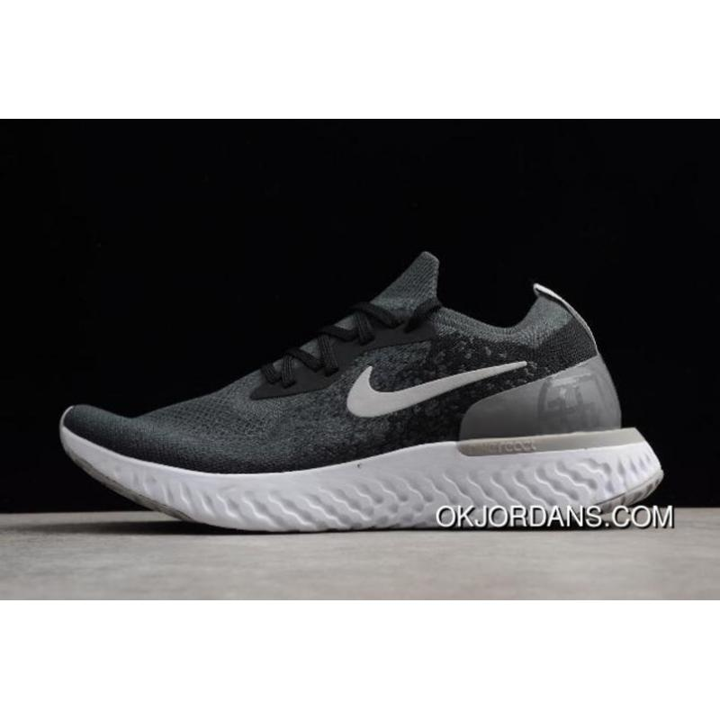 7aa84e3c5f60 USD  87.48  306.19. Nike Epic React Flyknit Black And Gery Printing Men s  And Women s Size Running Shoes Online ...