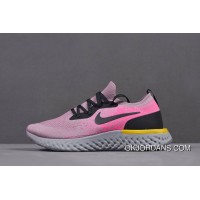 premium selection 9d701 4bf2c Women s Nike Epic React Flyknit Pink Yellow Black Grey Running Shoes Aq0070-500  New Year