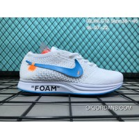 Nike Flyknit Racer 02 WHITE BLUE THE 10 Discount