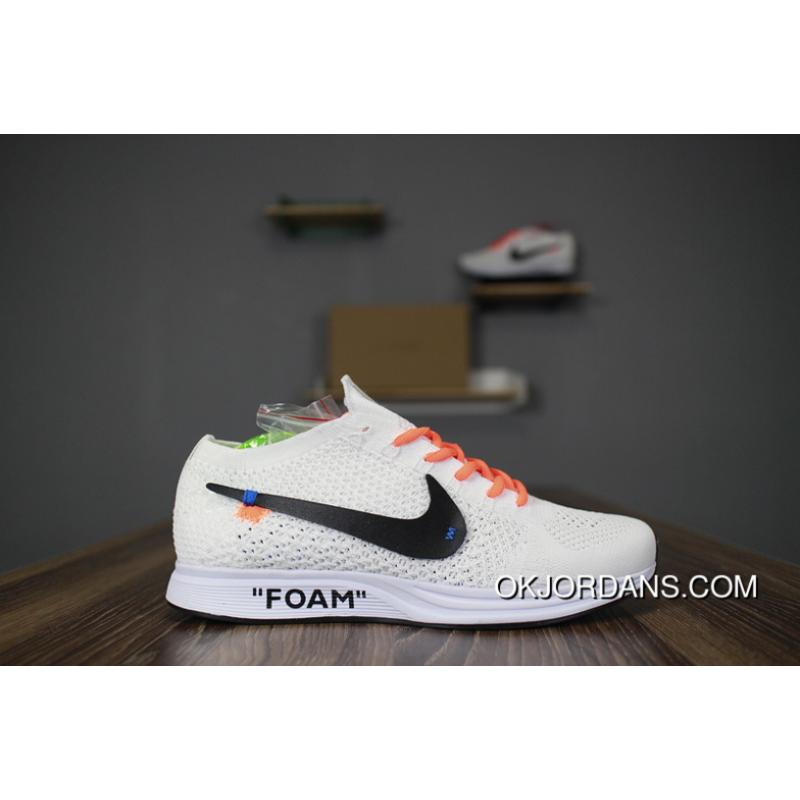 bde15e1b8af3c Off White X Nike Flyknit Racer AA526628-100 Black Letters New Year ...
