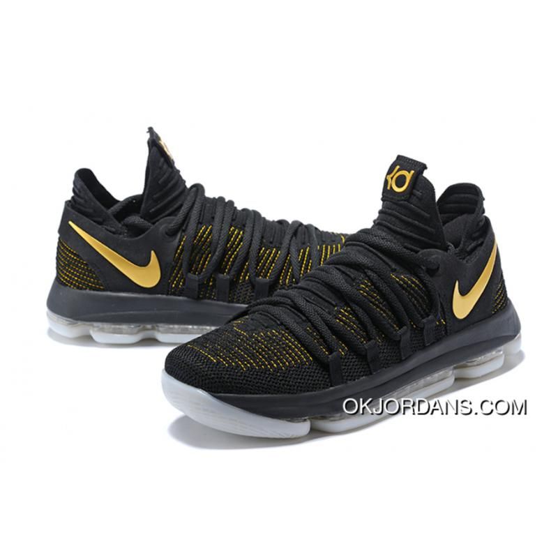 brand new 16a78 7c24c Nike KD 10 Black Yellow Free Shipping