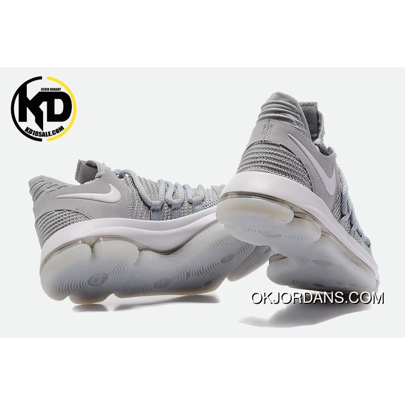 ebb791a10490a1 ... Nike Kd 10 Cool Grey Mens Basketball Shoes Outlet ...