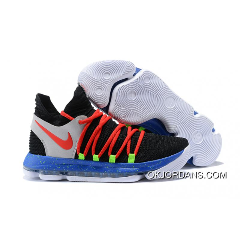 low priced 8df88 34c0f Nike KD 10 Black/Red-Cool Grey-Blue Best