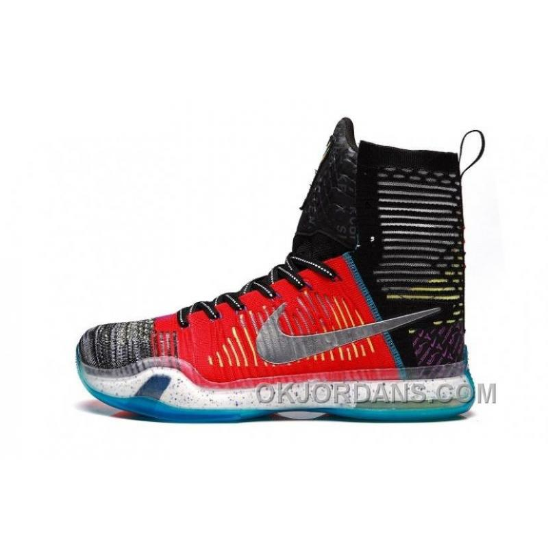 """best website a0f52 f7269 ... Nike Kobe 10 Elite High SE """"What The"""" Multi-color/Reflective Silver ..."""