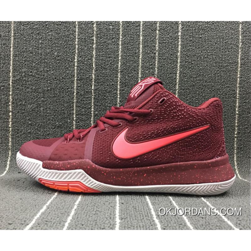 online store 6cbbd 9536a Nike Kyrie 3 Team Red/Hot Punch-White New Release