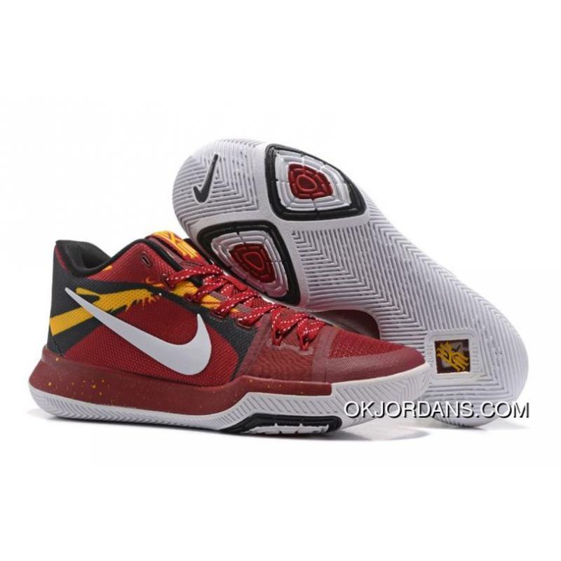 f696560c4d74 Nike Kyrie 3 Burgundy-Team Red White-Yellow-Black Top Deals