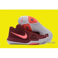 2017 Nike Kyrie 3 Warning Team Red/Hot Punch-White Outlet