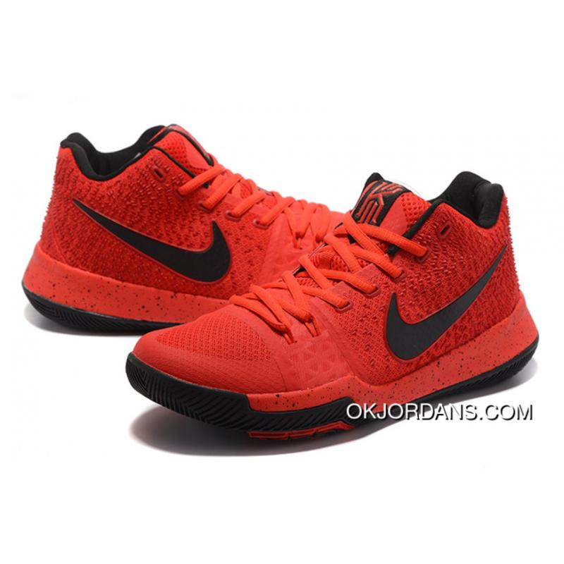 cd4f046d0116 ... 2017 Nike Kyrie 3 University Red Black-Team Red Released New Style ...