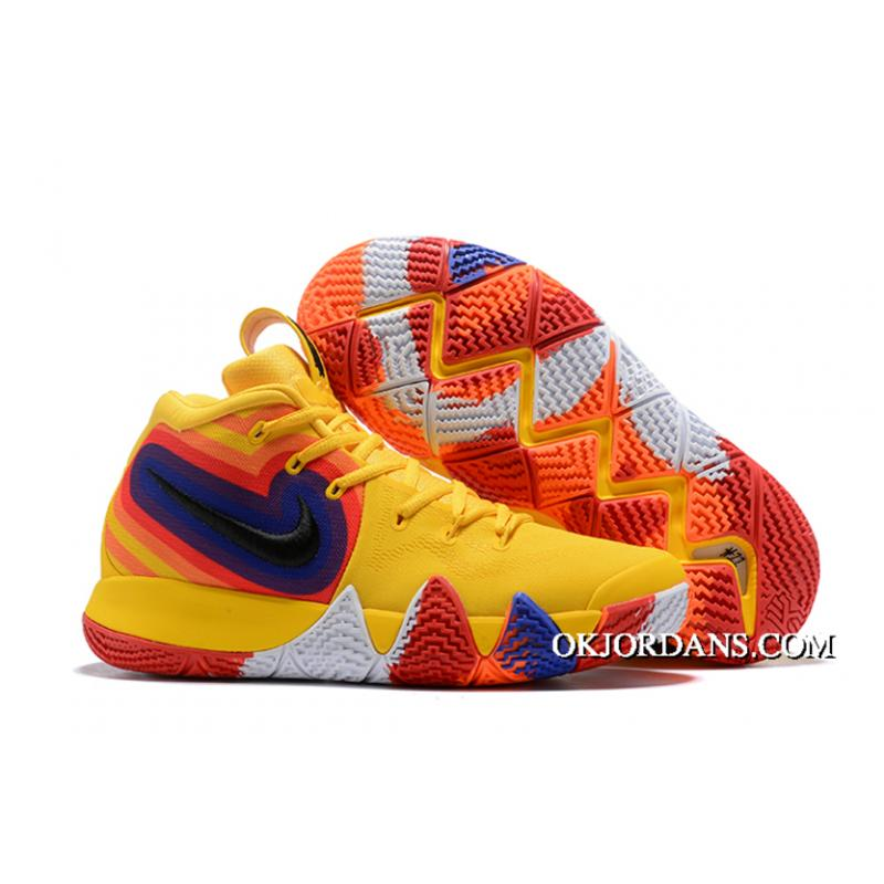 kyrie 4 yellow and purple