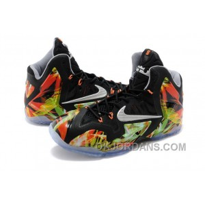 "Nike LeBron 11 ""Everglades"" Black/Metallic Silver-Wolf Grey-Atomic Mint For Sale Cheap To Buy RQYsY"