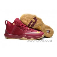 Nike Lebron Ambassador 9 Zoom Air Men Burgundy Lastest
