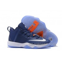 Nike Lebron Ambassador 9 Zoom Air Men Navy Blue White Orange Online