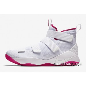 40b1210a044 2017 Nike LeBron Soldier 11 'Kay Yow' White Pink For Sale, Price ...
