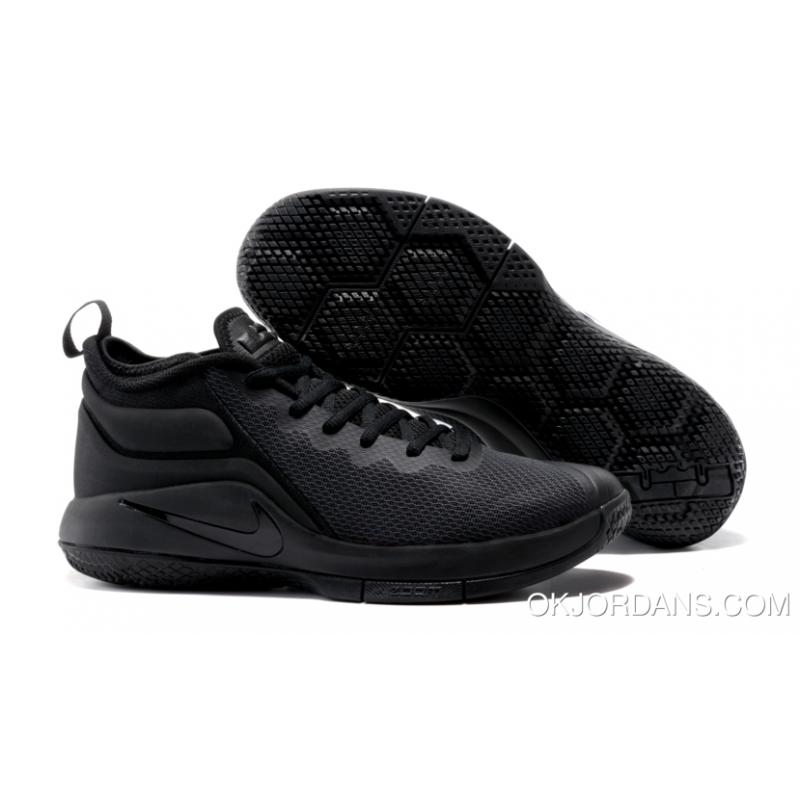 Nike LeBron Zoom Witness 2 Triple Black Basketball Shoes ...