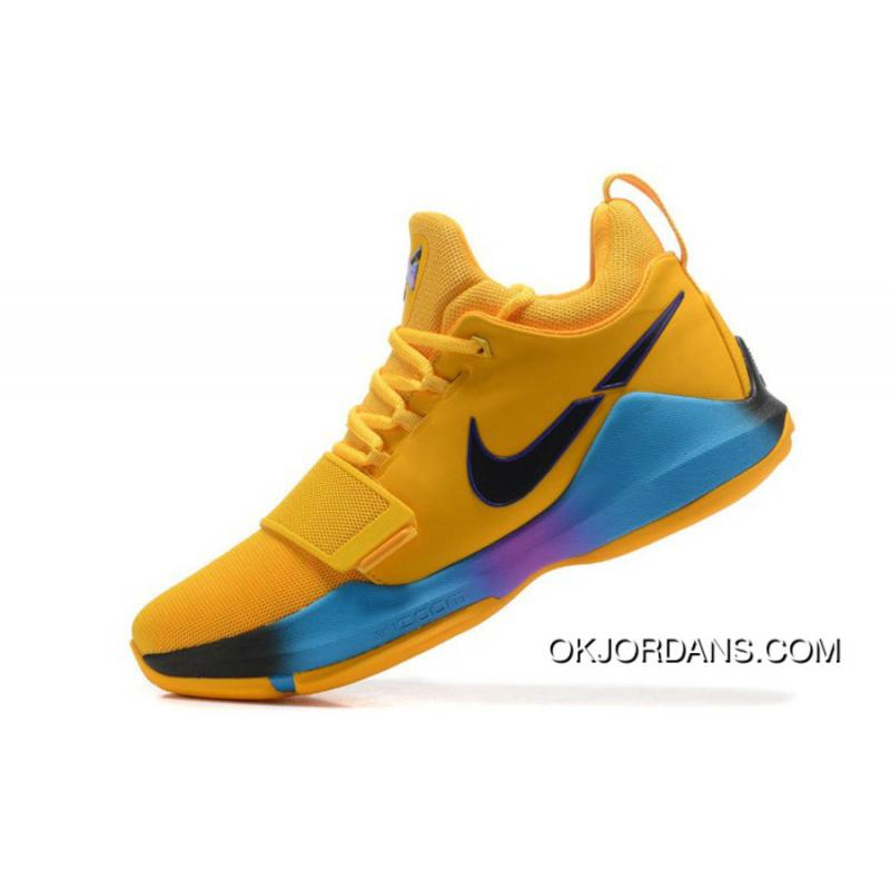 check out e908a 05624 Nike Pg 1 Flip The Switch Gold Blue Purple Pg Basketball Shoes Top Deals