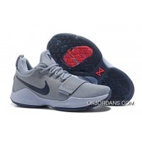 Nike Zoom Pg 1 Shoes Nike Zoom Pg 1 Grey Blue Basketball Shoes For Sale