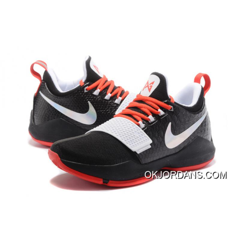 961a8cbd9447 ... Nike PG 1 Black White Red Men s Basketball Shoes New Release ...
