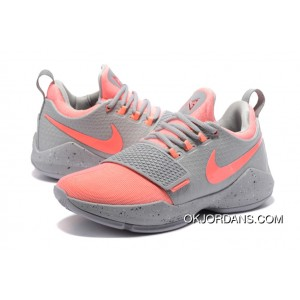 Nike PG 1 Gray Peach Red Men's Basketball Shoes Top Deals