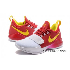 Nike PG 1 'Hickory' PE Deep Red Gold/White Best