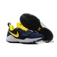 """Pacers"" Nike PG 1 PE Obsidian/Yellow-Hyper Violet Lastest"