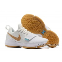 Nike PG 1 Ivory/Oatmeal-Gum Light Brown-Vivid Sky Lastest