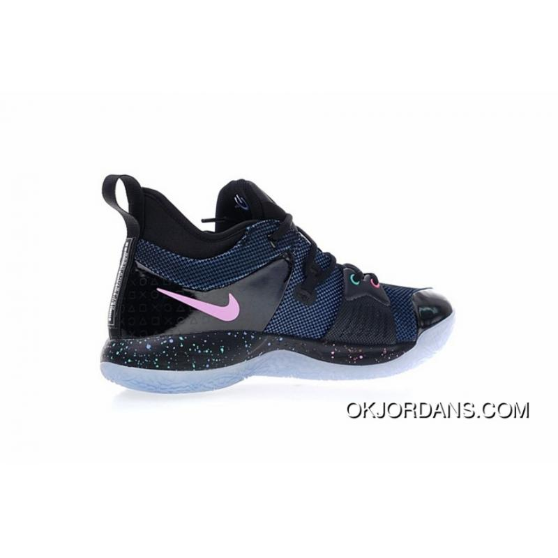 online store 0fe42 2e793 With Glowing LOGO Effect SONY Game Collaboration SONY Playstation X Nike PG  2 2.0 Cure PG2 Paul Signature Blue Ball Shoes Series Light Color Star LAN  ...