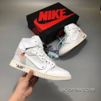 Men Off White X Air Jordan 1 Aaaaa SKU:356143-254 New Year Deals