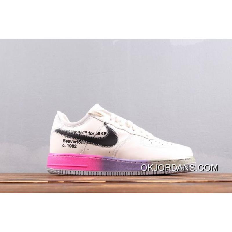 Men Off White X Nike Air Force One Basketball Shoes SKU:54146 445 Copuon