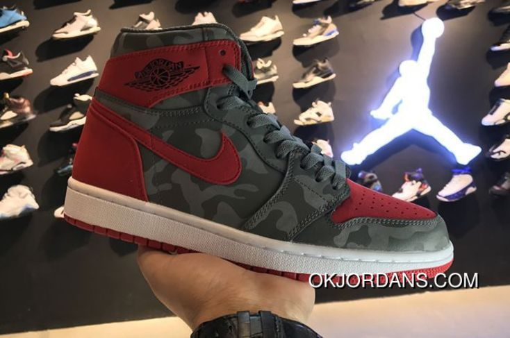 Air Jordan 1 Retro High Camo River Rock 2017 For Sale