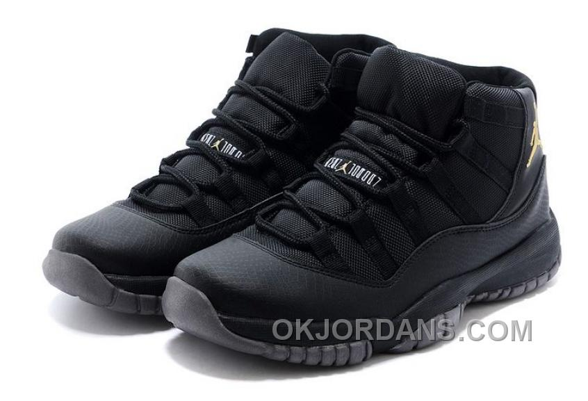 Charcoal Black And Gold Jordan 11 Men Basketball Shoes Free Shipping Discount 8eAQX