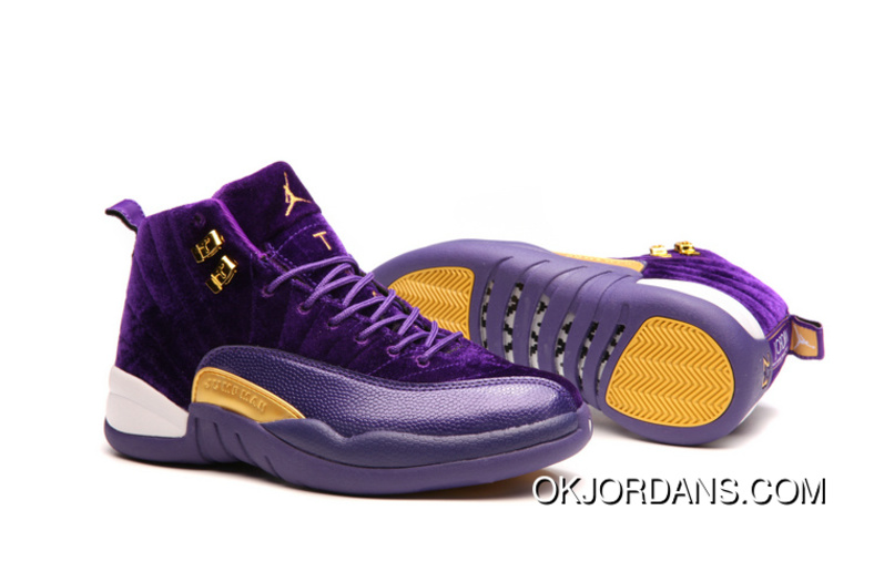 JORDAN 12A J12 36---40 Purple Yellow 2017 Women Authentic FyAtt5