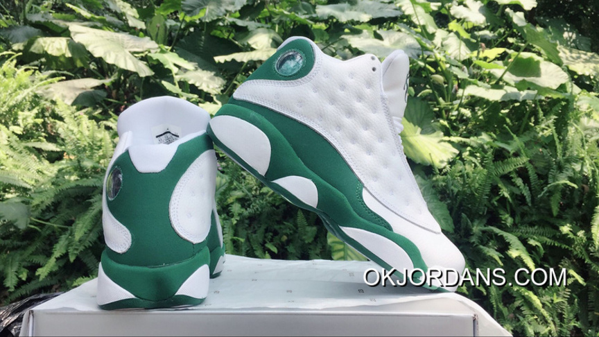 AJ13 Air Jordan 13 Allen Ray White Green Lastest FCGcyM