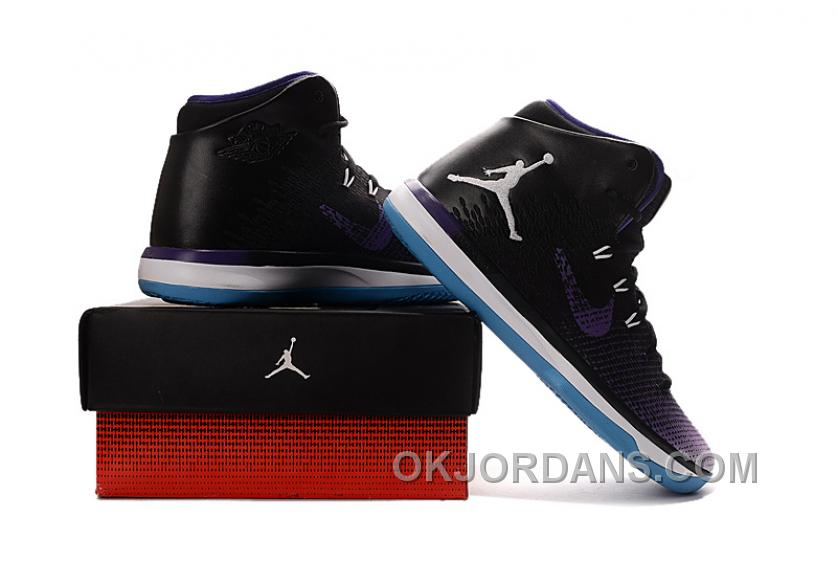 2017 Air Jordan XXX1 Black Purple White Blue Basketball Shoes Discount Irra6